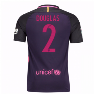 2016-17 Barcelona With Sponsor Away Shirt - (Kids) (Douglas 2)