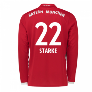 2016-17 Bayern Munich Long Sleeve Home Shirt (Starke 22)