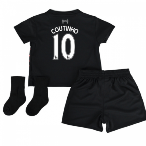 2016-17 Liverpool Away Baby Kit (Coutinho 10)