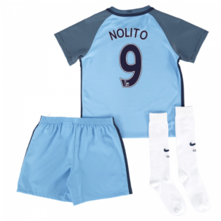2016-17 Man City Home Mini Kit (Nolito 9)