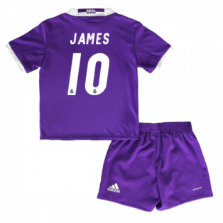 2016-17 Real Madrid Away Baby Kit (James 10)