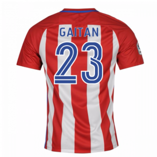2016-17 Atletico Madrid Home Shirt (Gaitan 23)