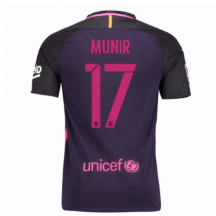 2016-17 Barcelona Away Shirt (Munir 17)
