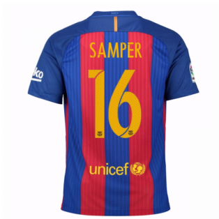 2016-17 Barcelona Home Shirt (Samper 16)