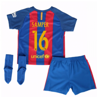 2016-17 Barcelona Home Baby Kit (Samper 16)