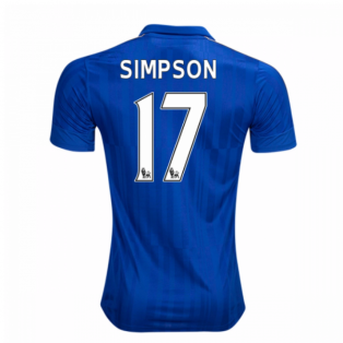 2016-17 Leicester City Home Shirt (Simpson 17)