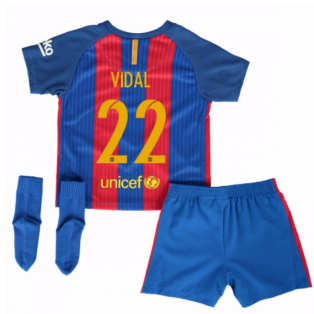 2016-17 Barcelona Home Baby Kit (Vidal 22)