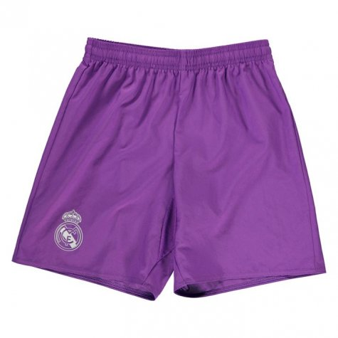 2016-2017 Real Madrid Adidas Away Shorts (Purple) - Kids
