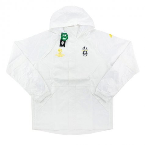 2016-17 Juventus Adidas Champions League All Weather Jacket (White)