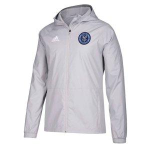 2018 New York City Adidas Rain Jacket (Light Grey)