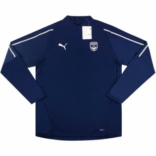 2018-2019 Bordeaux Puma Half Zip Training Top (Navy)
