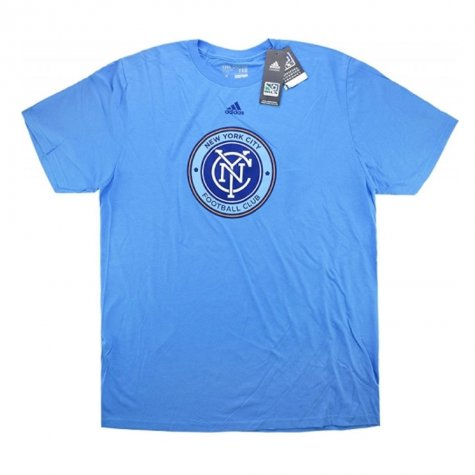 2015-16 New York City Adidas Logo Tee (Blue)