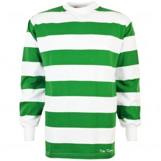 TOFFS Retro Football Shirt Emerald/White Hoop