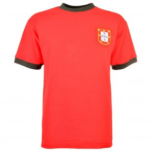 Portugal 1966 Short Sleeve Retro Football Shirt