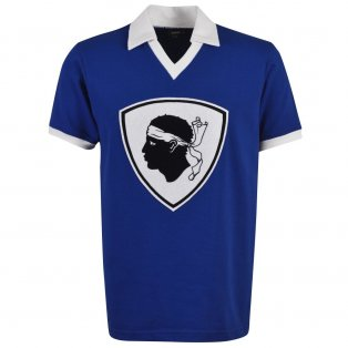 Bastia 1980s Retro Football Shirt