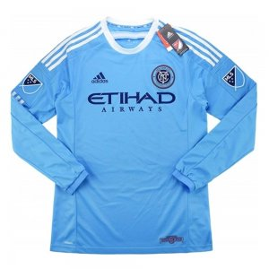 2016 New York City Adidas Home Authentic Long Sleeve Football Shirt