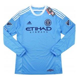 2016 New York City Adidas Home Authentic Long Sleeve Football Shirt