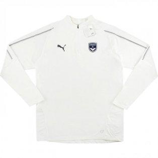 2018-2019 Bordeaux Puma Half Zip Training Top (White)