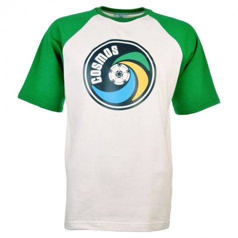 New York Cosmos - NASL T-Shirt (White with Green Sleeves)