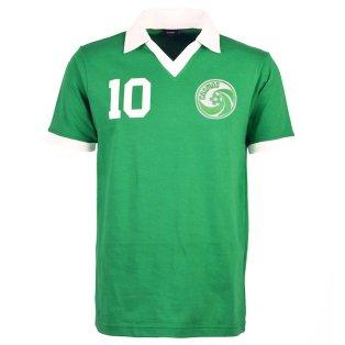 New York Cosmos Pele Green Retro Shirt with PELE 10