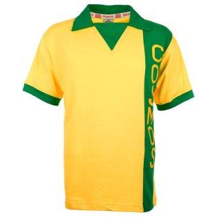 New York Cosmos Retro Yellow Short Sleeved Football Shirt