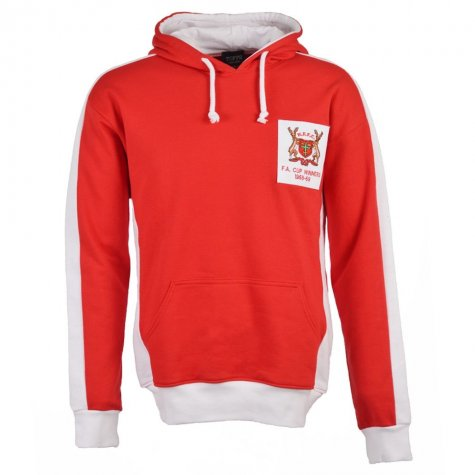 Nottingham Forest Retro Hoodie Red