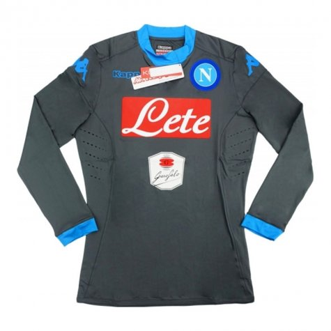 80573a8f292 2015-16 Napoli Kappa Authentic Away Long Sleeve Goalkeeper Shirt ...