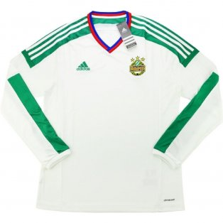 2015-16 Rapid Vienna Adidas Away Authentic Long Sleeve Football Shirt