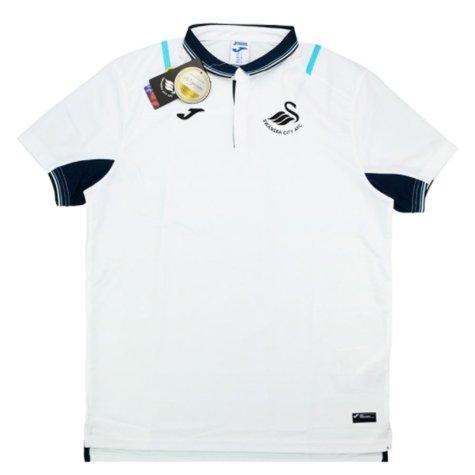 2016-17 Swansea Joma Travel Polo Shirt (White)