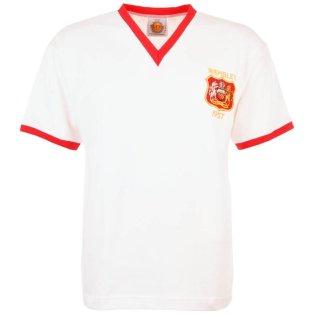 Manchester United 1957 FACF Kids Retro Football Shirt