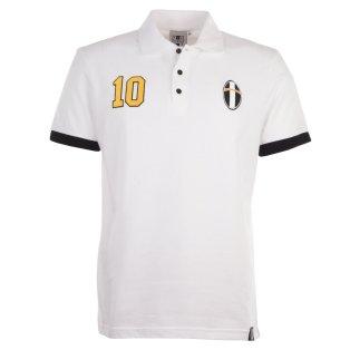 Juventus No 10 White Polo Shirt