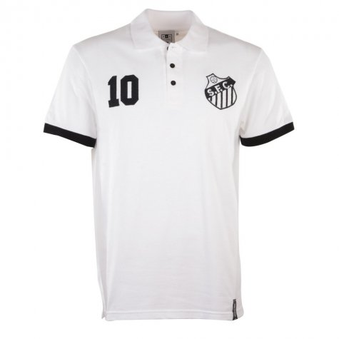 Santos No 10 White Polo Shirt