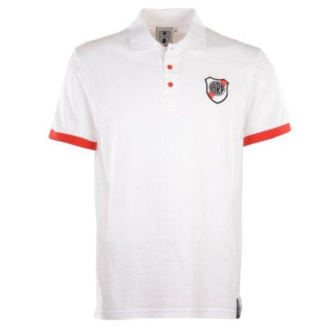 Riverplate White Polo Shirt
