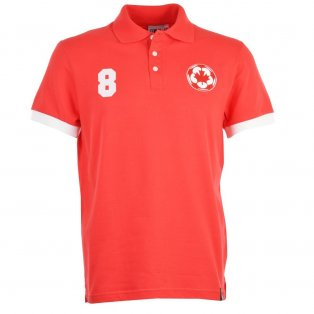 Canada No 8 Red Polo Shirt