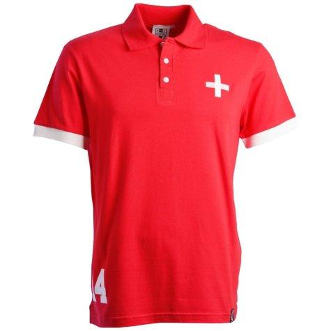 Switzerland No 14 Red Polo Shirt