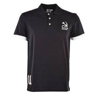 Soviet Union (CCCP) No 01 Black Polo Shirt