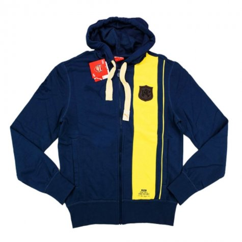 2014-15 Arsenal Puma Archives Hooded Top (Navy)
