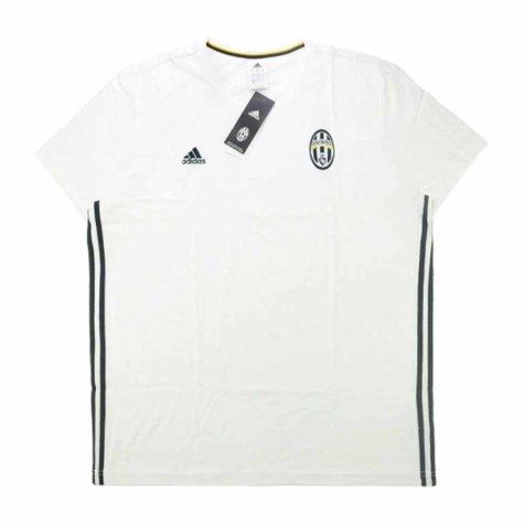 2016-17 Juventus Adidas Three Stripe Training Tee (White)