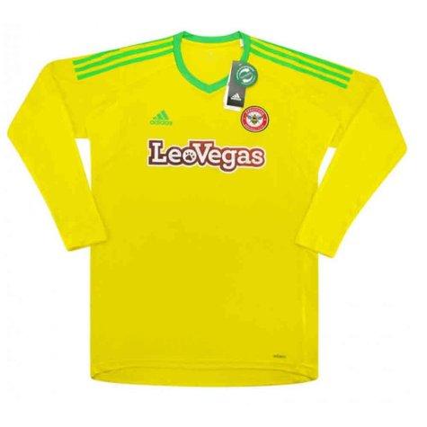 2017-2018 Brentford Adidas Home Goalkeeper Shirt