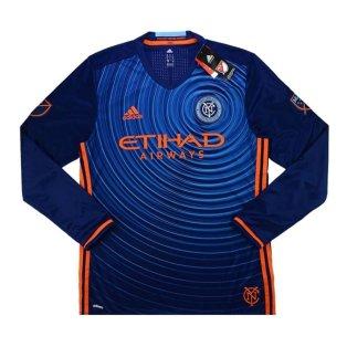 2017 New York City Adidas Away Authentic Long Sleeve Football Shirt