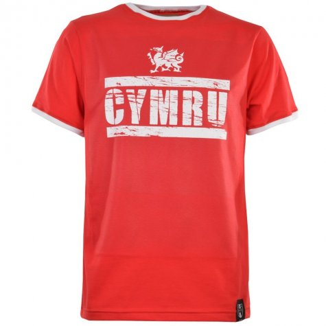 Wales T-Shirt - Red/White Ringer