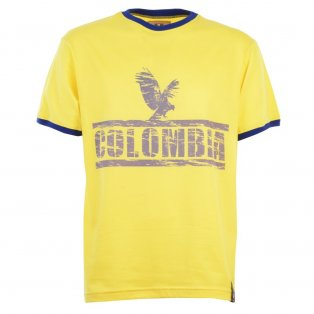 Colombia T-Shirt - Yellow/Royal Ringer