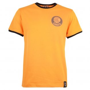 Kaizer Chiefs 12th Man T-Shirt - Amber/Black Ringer