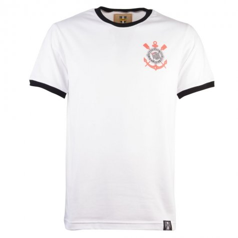 Corinthians Paulista 12th ManT-Shirt - White/Black Ringer