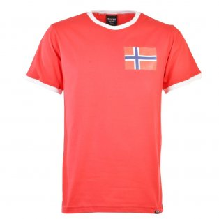 Norway 12th Man T-Shirt - Red/White Ringer