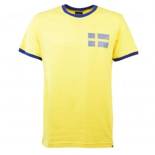 Sweden 12th ManT-Shirt - Yellow/Royal Ringer