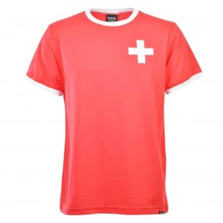 Switzerland 12th Man- Red/White Ringer