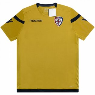 2018-2019 Cagliari Macron Training Shirt (Gold)