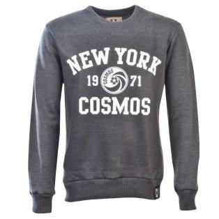 NASL: New York Cosmos White Print Sweatshirt - Charcoal