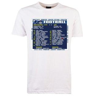 2012 Man City v QPR (Manchester City) Retrotext t-shirt